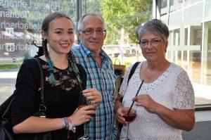 Laura Hirschmann mit Eltern