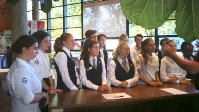 Schülerinnen und Schüler der GASCHT bei der Chemiefasertagung in Dornbirn 2018.