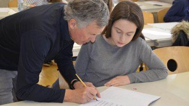 Kalligrafiekurs an den BWS