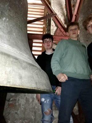 2. Werkraumschule besucht die Glocken in Andelsbuch.