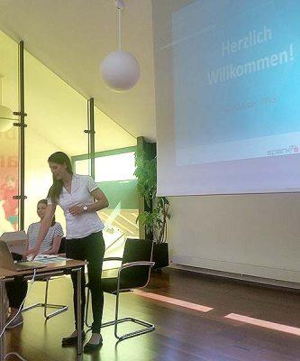 Claudia Albrecht von der Sparkasse Egg berichtete über Fonds und Rating-Agenturen.