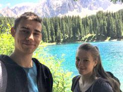 Stefan und Theresia von der HLT Bezau