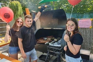 Lina, Simon und Verena aus der HLT Bezau