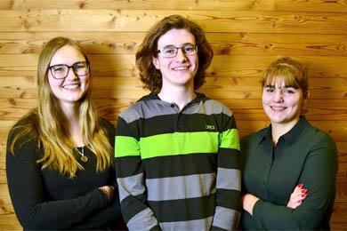 Martina, Marcel und Julia aus der HLT Bezau