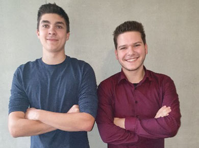 Raphael und Nicolas von der HLT Bezau
