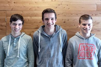 Simon, Patrick und Maximilian aus der HAK Bezau