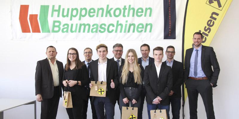 Präsentationsfinale der 4. HAK Bezau des Topsim-Landeswettwerbs bei der Huppenkothen GmbH in Lauterach