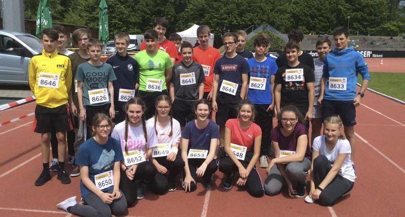 Start der 1. Werkraumschule Bezau beim Lidl-Schullauf in Bregenz.