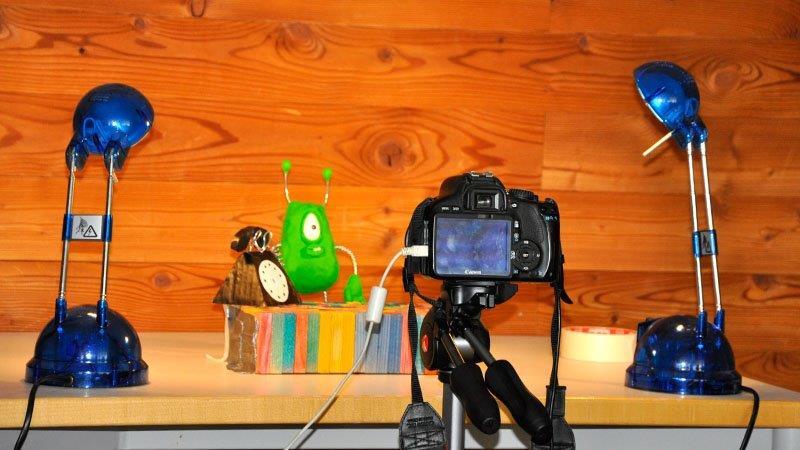 Setting zum Stop-Motion-Film der HAK Bezau
