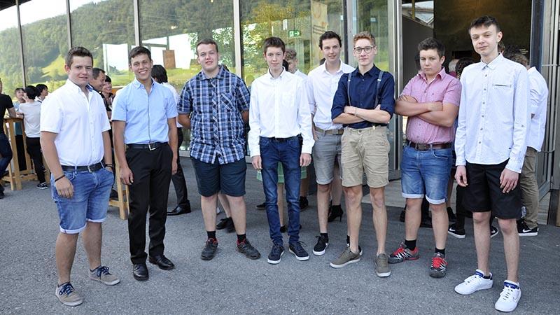 Jungs vom der Werkraumschule Bregenzerwald