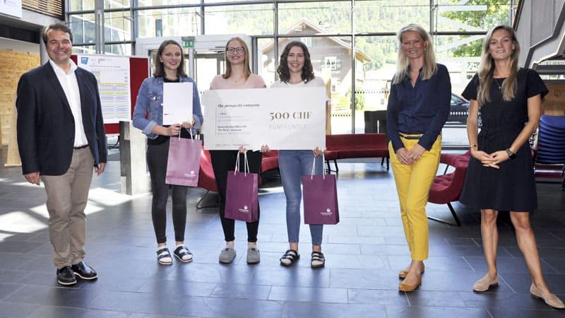Innovationswettbewerb Uni LIechtenstein 1. Platz für die HAK Bezau