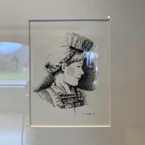 Juppenträgerin von Ulrike Maria Kleber