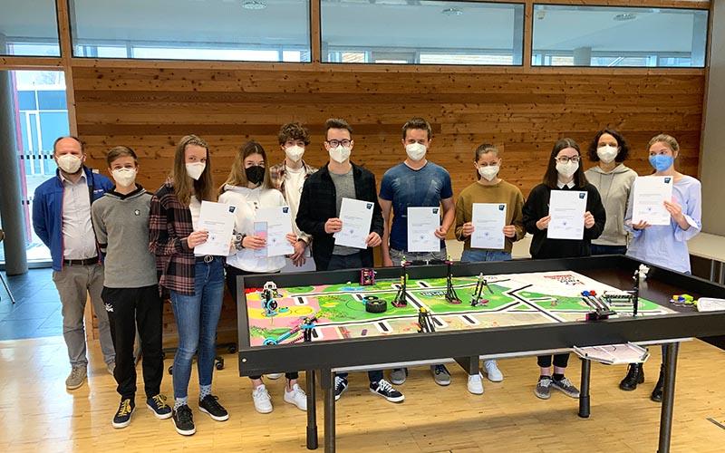 Team BWSAP der Bezauer Wirtschaftsschulen bei der First Lego League 2021