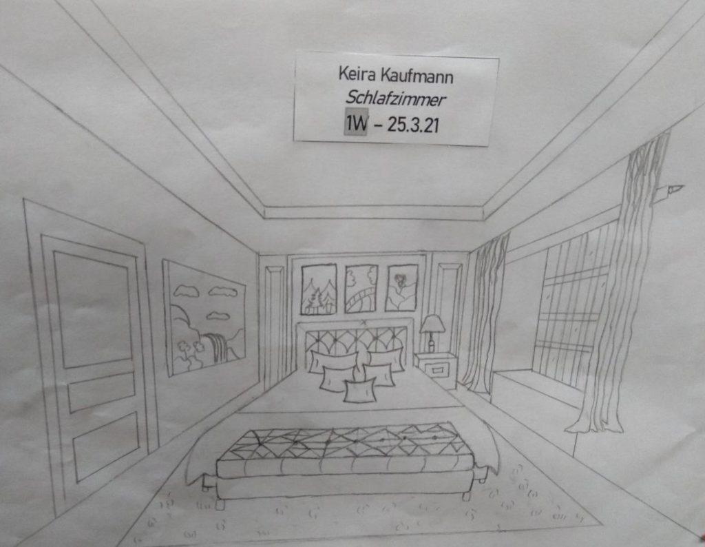 Schlafzimmer von Keira Kaufmann 1. Werkraumklasse Bezau