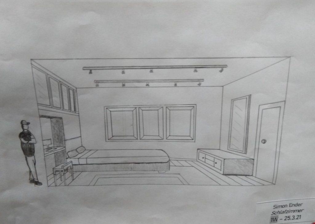 Schlafzimmer von Simon Ender, 1. Werkraumklasse Bezau