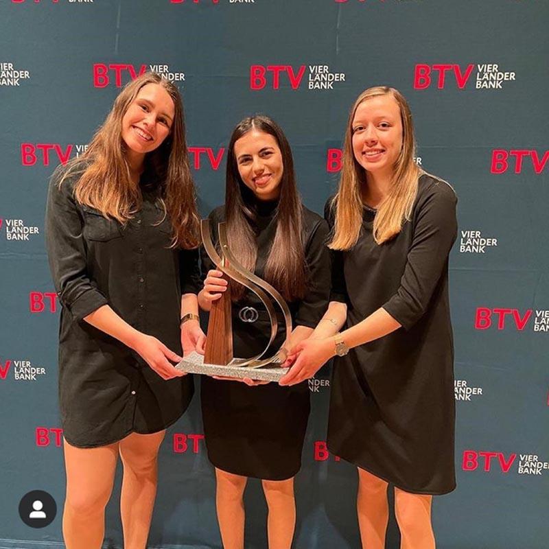 Gewinnerinnnen der 23. BTV Markieting Trophy Selina Bischof - Melike Yigit - Selina Greber