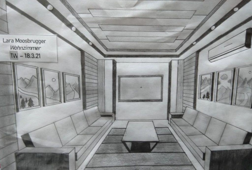 Wohnzimmer Reinzeichnenprojekt von Lara Moosbrugger 1. Werkraumklasse