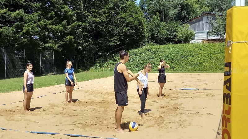 Beachvolleyball in Andelsbuch mit der 4. HAK Bezau