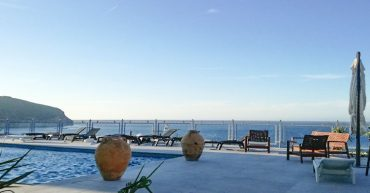 Blick aufs Meer vom Hotel Saracino