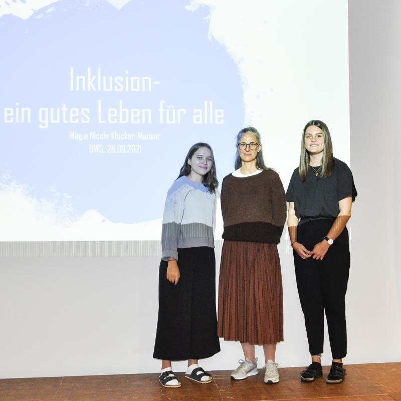 Vortrag zum Thema Inklusion mit Nicole Manser an der HAK Bezau