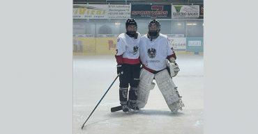 Rosalie Eberle von der HAK Bezau im Sichtungscamp der Eishockey Nationalmannschaft