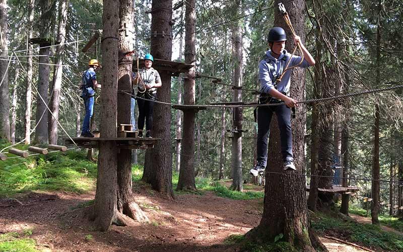Waldseilgarten Damüls - ein spannendes Abenteuer in Damüls